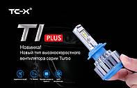 Автомобильные лампы T1 LED H7 35W 6000K + Power Driver (комплект 2шт)