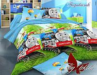 Комплект постельного белья для детей Паровозик (ДП евро-064)