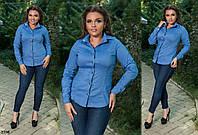 Рубашка с длинным рукавом 48-50,52-54,56-58