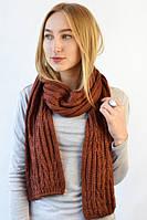 Объемный женский шарф с объемными косами