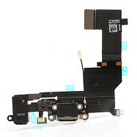 Шлейф Flat cable IPHONE 5S with charge connector black
