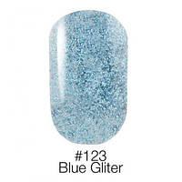 ГЕЛЬ-ЛАК ДЛЯ НОГТЕЙ НАОМИ 6ML NAOMI GEL POLISH 123 ярко-голубой с блестками