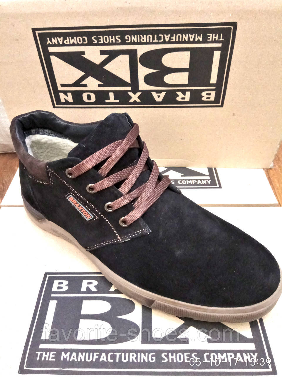 Зимние мужские ботинки Braxton замш