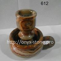 Подсвечник-чашка из оникса, фото 1