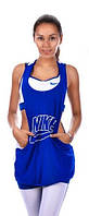 Женский костюм спортивный сине-белый