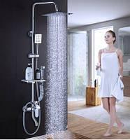 Душевая стойка колона с верхним душем полочкой и гигиеническим душем 0230