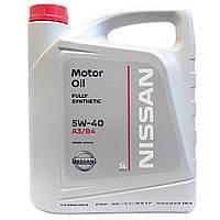 Синтетическое моторное масло Nissan Sae 5w-40 5L, фото 1
