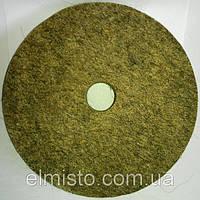 Круг войлочный c отверстием 125 х 22 х 22 грубошерстный мягкий полировальный на станок точильный, шлифовальный