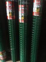 Сетка сварная c ПВХ покрытием 2,2*50*50мм/1,5м*10м зеленая ПРЕМИУМ, фото 1