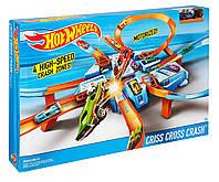 Трек Хот Вилс Опасный Перекресток / Hot Wheels Criss Cross Crash Track