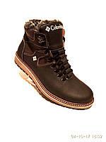 Зимние мужские кожаные ботинки Columbia на каждый день, фото 1