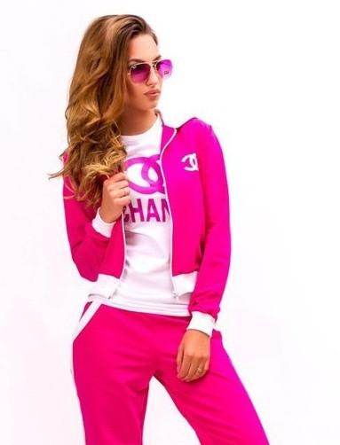 36e7f2f9307 Женский спортивный костюм CHANE розовый
