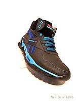 Зимние мужские кожаные кроссовки Reebok синий 19