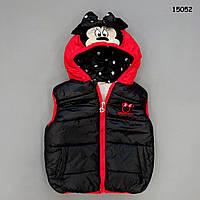 Теплая жилетка Minnie Mouse для девочки. 90, 100, 120 см