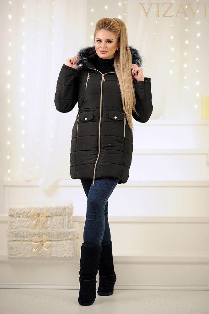 Женская зимняя куртка на овчине.