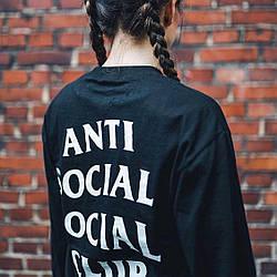 ASSC женский свитшот • Бирки реальные Фотки • Топовая кофта Anti Social Social Club