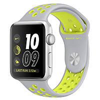 Ремень Nike Sport Band for Apple Watch 42mm (Light Grey/Yellow)