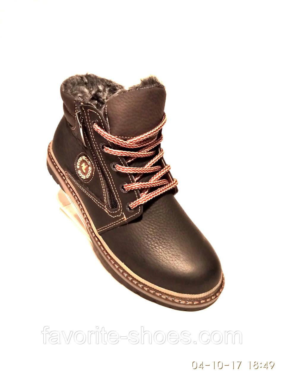 Зимние ботинки подросток ecco