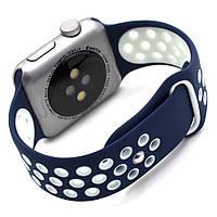 Ремень Sport Band for Apple Watch 42mm /44mm(Navy Blue/White), фото 1