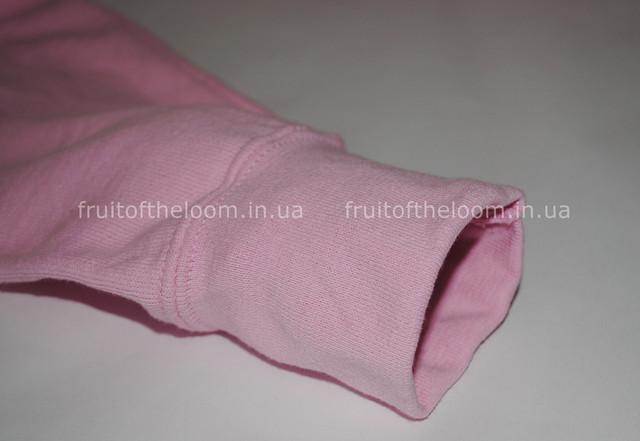 Светло-розовая женская классическая толстовка с капюшоном