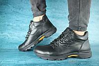 Мужские зимние ботинки Clarks код Y10520 черная кожа