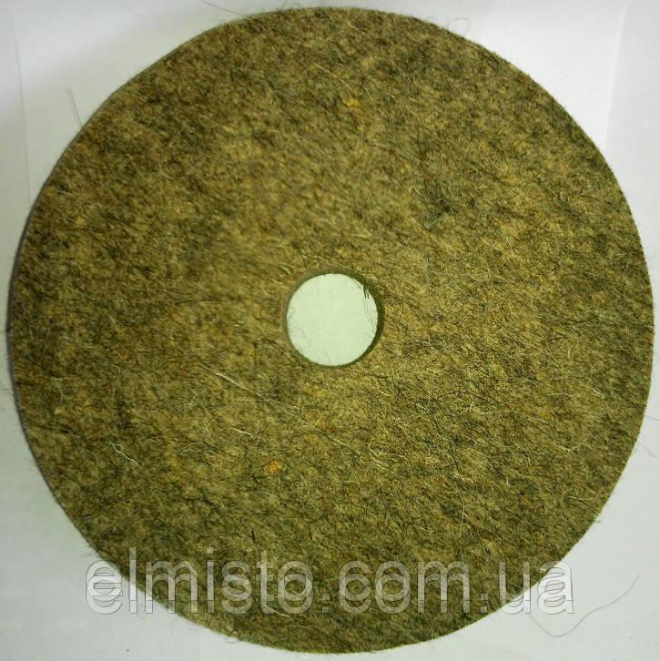 Коло повстяний c отвором 100 х 22 х 20 грубошерстный м'який полірувальний на шліфувальний верстат