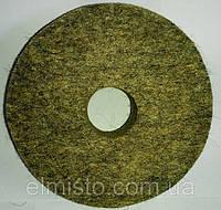 Круг войлочный c отверстием 125 х 22 х 32 грубошерстный мягкий полировальный на станок точильный, шлифовальный