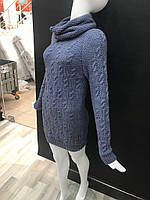 Женский свитер  вязанный с хомутом оптом