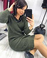 Платье модное теплое миди английская вязка разные цвета SMv1817