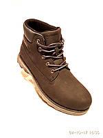 Зимние мужские кожаные ботинки Restime стиль Timberland, фото 1
