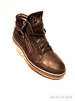 Зимние мужские кожаные ботинки Belvas черный