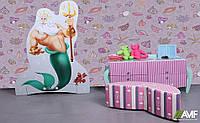 Детская комната Нептун (3 элемента мебели: вешалка, комод, пуф) ТМ AMF