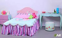 Детская комната Русалочка 1 (4 элемента мебели: кровать, стол, тумба, пуф) ТМ AMF