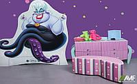 Детская комната Урсула (3 элемента мебели: вешалка, комод, пуф) ТМ AMF