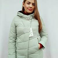 Куртка женская зимняя брошка комбинированная