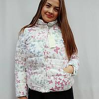 Куртка женская молодежная с эффектом 3Д