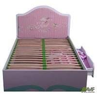 Детская кровать с ящиком для девочки Дизайн Дисней Русалочка односпальная 90х200 см ТМ AMF 150207