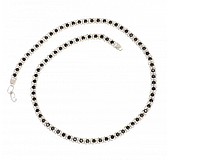 Серебряная цепь 925 пробы арабский бисмарк с черными фианитами