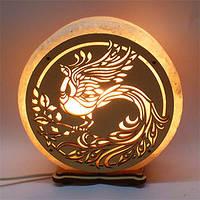 Круглая соляная лампа Жарптица
