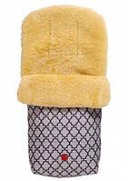 Зимний конверт из натуральной овчины медико-сорт Natura для ребенка от 6 до 36 месяцев ТМ Kaiser Антрацит орн. 65411324
