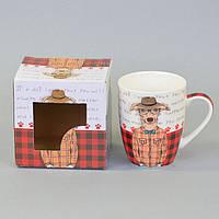 """Чашка в подарочной упаковке """"Собака"""". Размер - 10х8 см."""