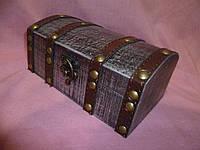 Сундук шкатулка деревянная 18х11х8