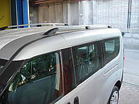 Рейлинги на крышу с пластиковыми креплениями Fiat Doblo 2010- / Opel Combo 2011- ДЛИННАЯ БАЗА, под хром (полированный алюминий)