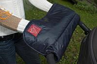 Тёплая муфта для коляски Alaska Melange ТМ Kaiser синий 65697322