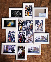 Деревянная эко мультирамка, коллаж #211-1 белый, орех, венге, чёрный., фото 1