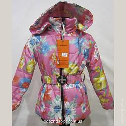 Куртка 8-2 Крупный Цветок 3288 Весна-Осень