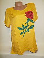 Блузка женская с розой на груди