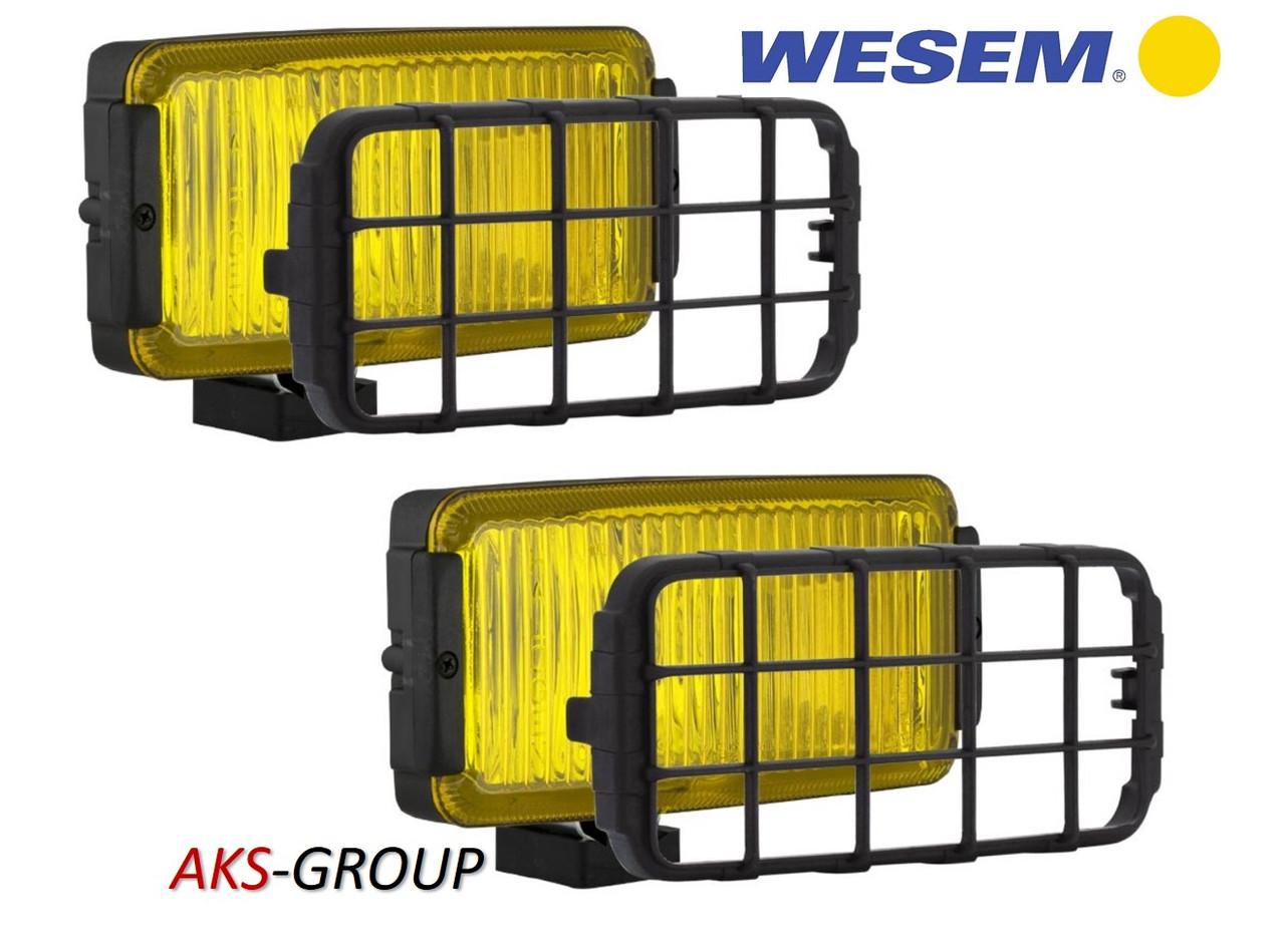 Противотуманные  фары 180х86х82 мм Wesem HP2.10947  желтых с решеткой