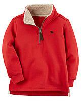 Теплый свитер Carters на мальчика 2-5 лет Fleece Half Zip-Up Sweater