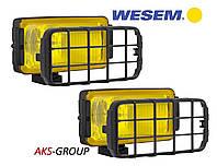 Комплект фар дальнего света 180х86х82 мм Wesem HP2.11147 желтых с решеткой , фото 1